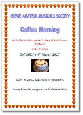 Coffee Morning 4th March 2017 - click for a larger image