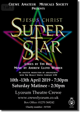 Jesus Christ Superstar - Next production April 2019